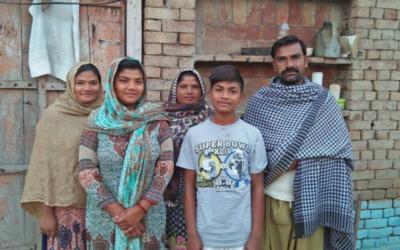 Aslam Masih Family – 5 people – $1000USD
