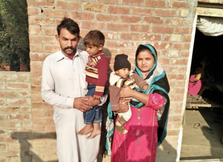 Khurram Masih Family – 4 people – $975USD