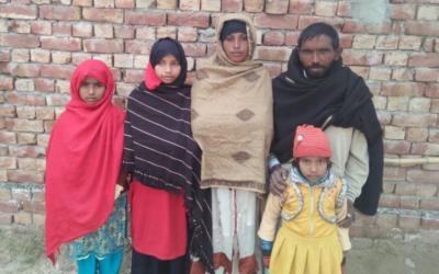 Babu Masih Family – 5 people – $995USD