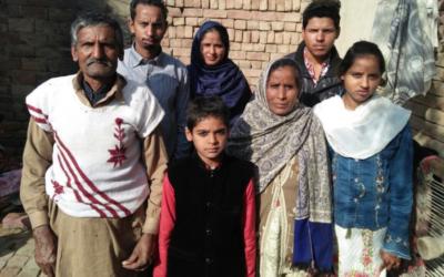 Saleem Masih Family – 7 people – $745USD