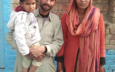 Allah Washia Masih family – 3 people – $545USD