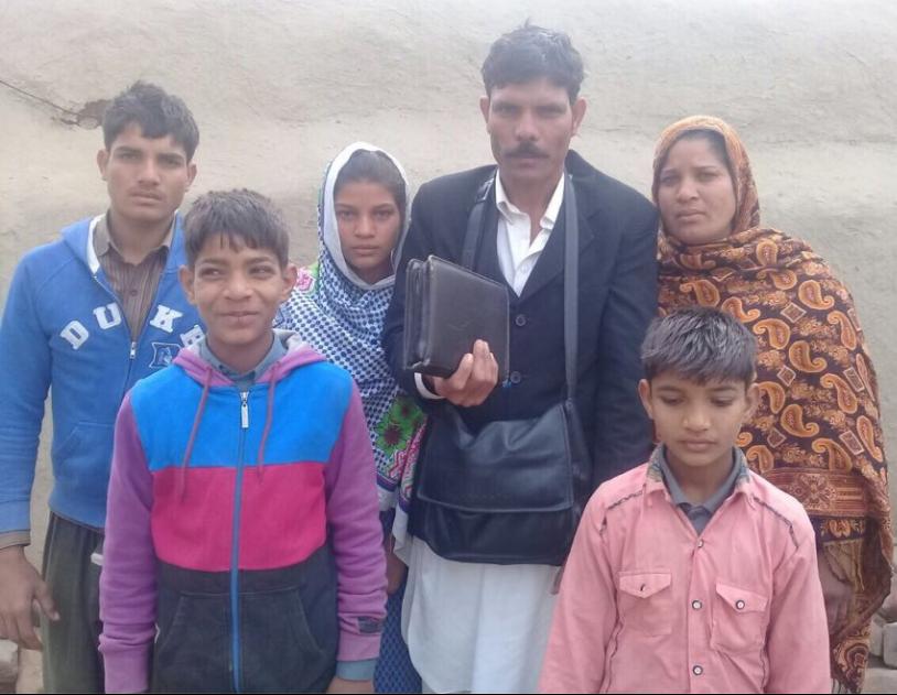 Pastor Lazar Masih family – 6 people – $395USD