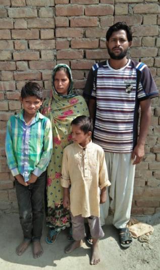 Rafaqat Masih Family – 4 people – $700 USD